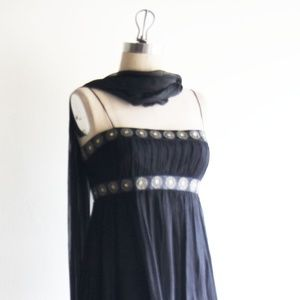 Maggy London Empire waist Black Sheath Dress  Med